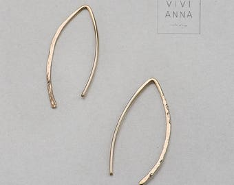 Hand-Forged earrings Gold filled EE001
