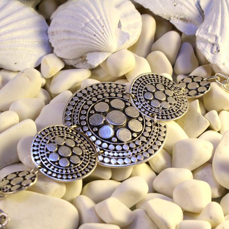 Boho Bracelet-Bohemian Bracelet-Silver Boho Bracelet-Vintage Style Statement Bracelet-Unique Bracelet-Elegant Bracelet-Antique Bracelet