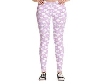 f06b25186f7d9 Cute Bunny Leggings, Custom Leggings, Printed Leggings, Easter Leggings,  Microfiber Leggings