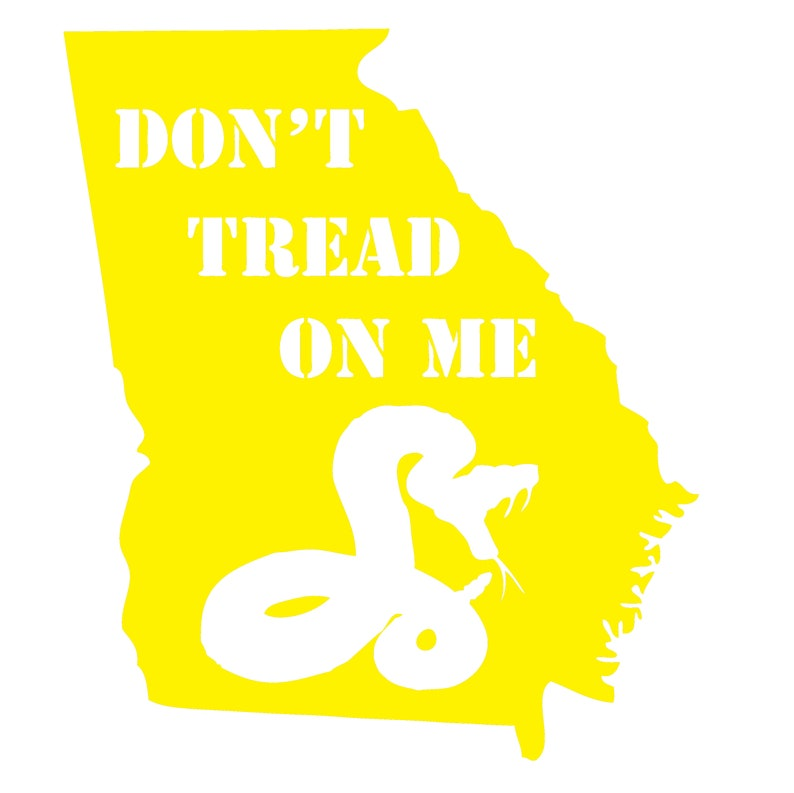 Georgia Don/'t Tread on me Vinyl Decal