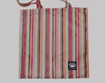 Tote Bag - multi color stripes