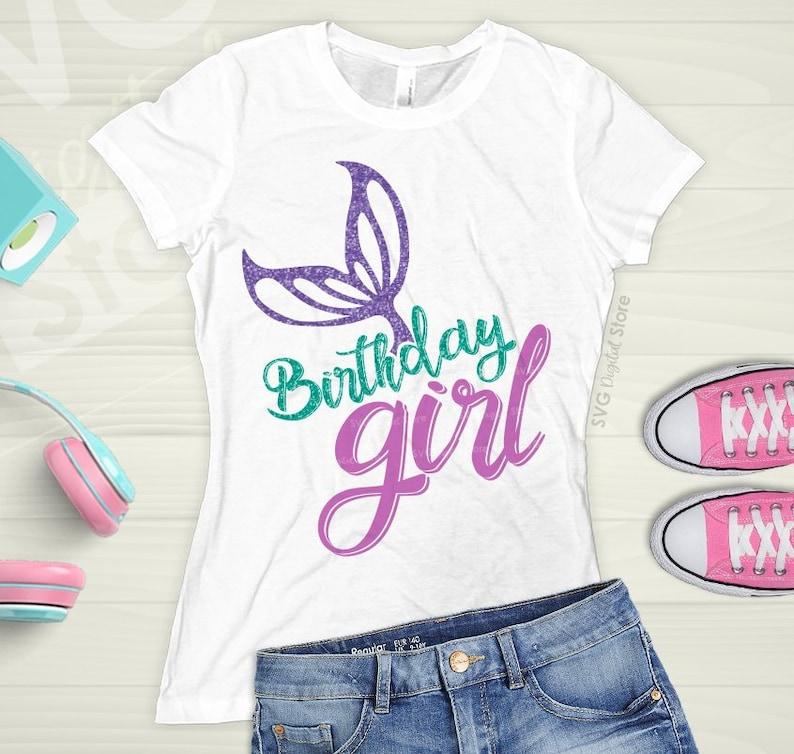 279b0ff324ab Mermaid Birthday Shirt Mermaid svg Birthday girl Girls | Etsy