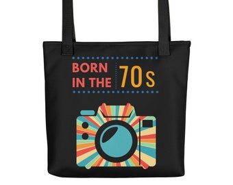Born in the 70s, Birthday Gift, Throwback Graphic Design, Retro Camera, 70s disco colors