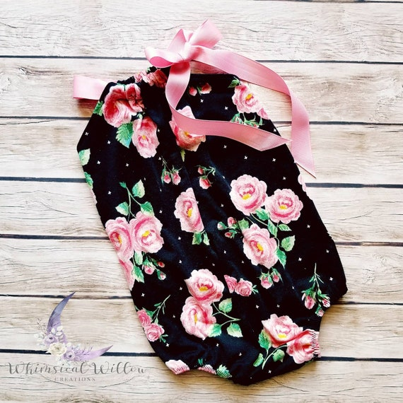 f00f8d9ef2a9 Rose Cross Bubble Romper Baby Bodysuit Spring Outfit Pink