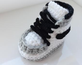 Crochet Air Jordan Style Baby Sneakers 8ef916a36