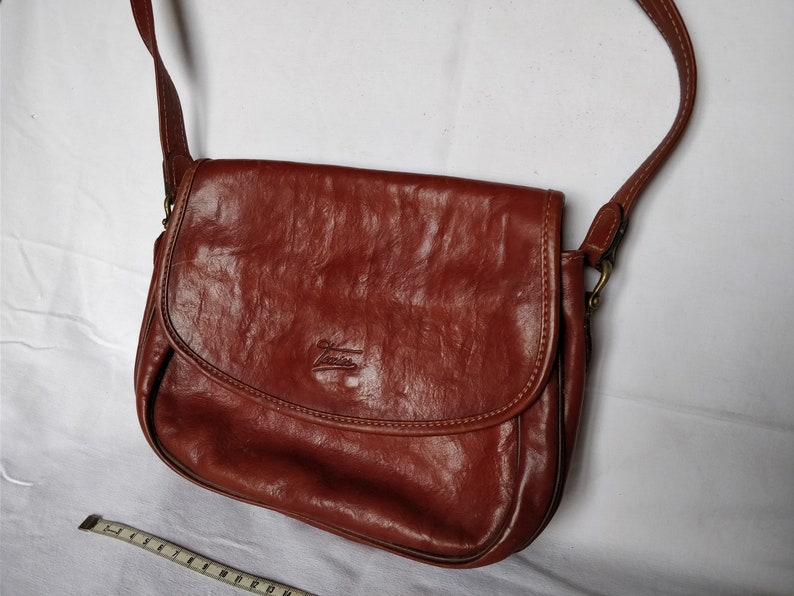 73821360e7 Sac Texier Vintage Sac Femme Bandoulière Petit Sac marron | Etsy