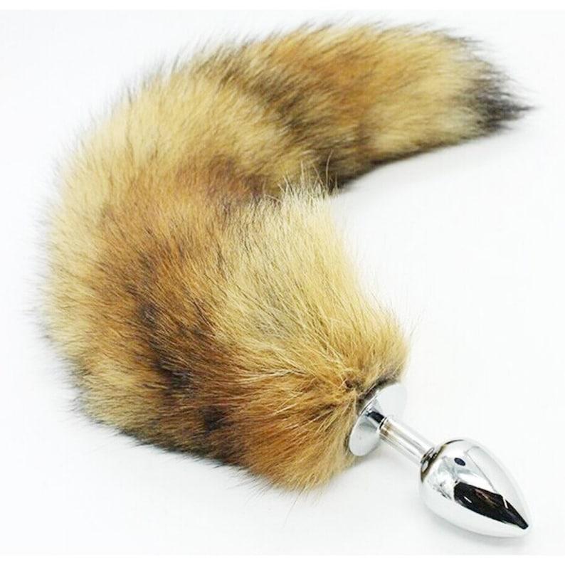 7cfbf8b99ca Fox Tail Butt Plug Animal Tail Adult Toys Foxy Plugs Fur