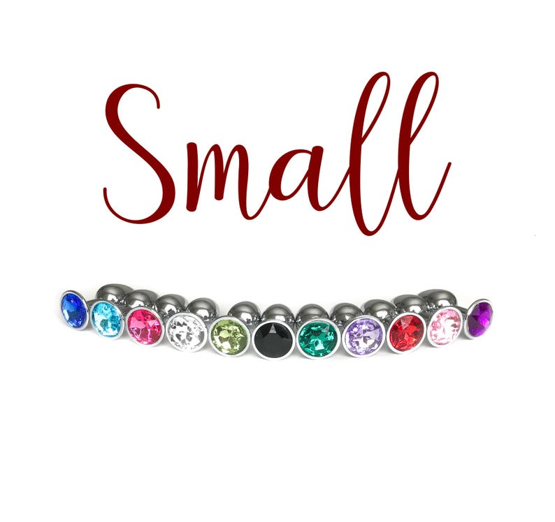 1e11f2e87 SMALL Jeweled Stainless Steel Anal Butt Plug Adult BDSM Toys