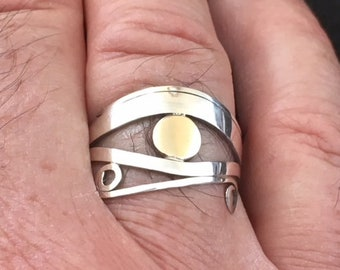 Men's Eye of Horus - Sterling Silver and Nu Gold