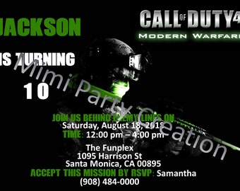 Call of duty birthday invitations etsy call of duty modern warfare 4 birthday invitation digital download filmwisefo