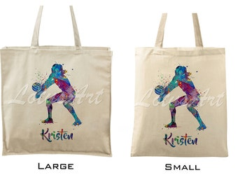 466808c5e1 Tote Bags Volleyball Girl Personalized Tote Bags Custom Tote Bags Canvas Tote  Bag Beach Tote Sport Tote Sport Bag Shopping Bag Cotton Bag