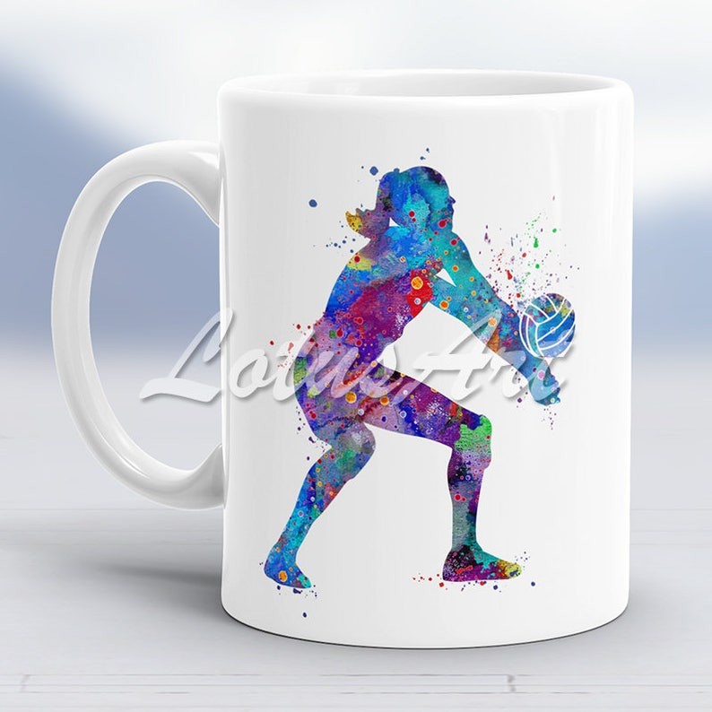 Volleyball Girl Mug Sport Coffee Player Cup Gift Birthday Ideas