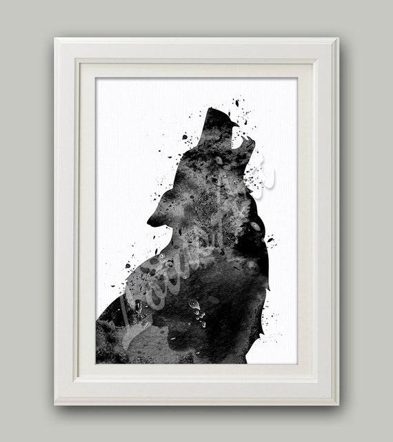 I Gray Wolf Art Print Home Decor Wall Art Poster
