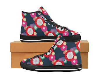 a9f0ef2294c1 Kiku Floral Pattern Equil High Tops - Womens