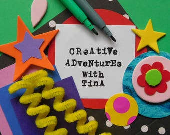 Kids Creative Packs by Creative Adventures With Tina,  Kids Art Pack, Collage, Fun, Art, Kids Craft, Craft, Art Project, Homeschool, Create