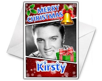 ELVIS PRESLEY Personalised Christmas Card
