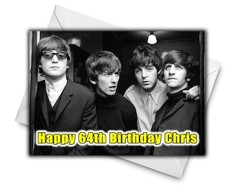 Beatles card etsy the beatles personalised birthday greetings card large size a5 personalized birthday card music birthday card m4hsunfo