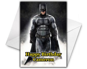 Batman birthday card etsy batman personalised birthday greetings card large size a5 personalized birthday card m4hsunfo