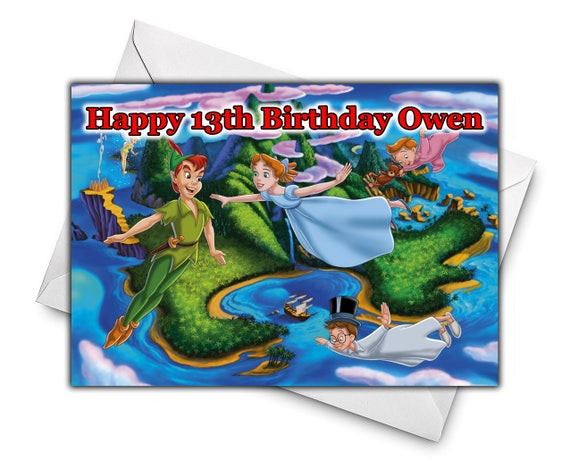 DISNEYS PETER PAN Personalised Birthday Greetings Card