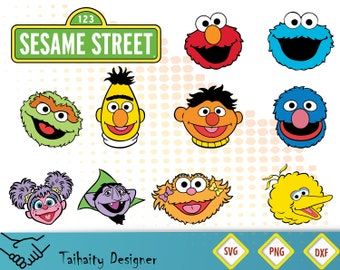 image relating to Printable Sesame Street Characters called Sesame printable Etsy