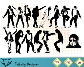 Michael Jackson Svg File Silhouette Dxf Png Printable SVG Cut Vector Digital Print Instant Download