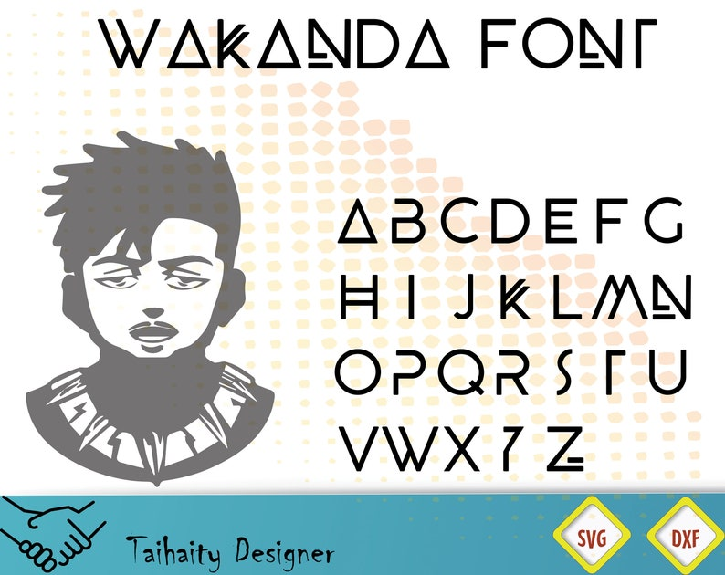 photo relating to Font Printable named Wakanda font svg record/ Wakanda alphabet svg, dxf/ Printable/ SVG lower record/ Vector/ Electronic/ Print/ Immediate down load
