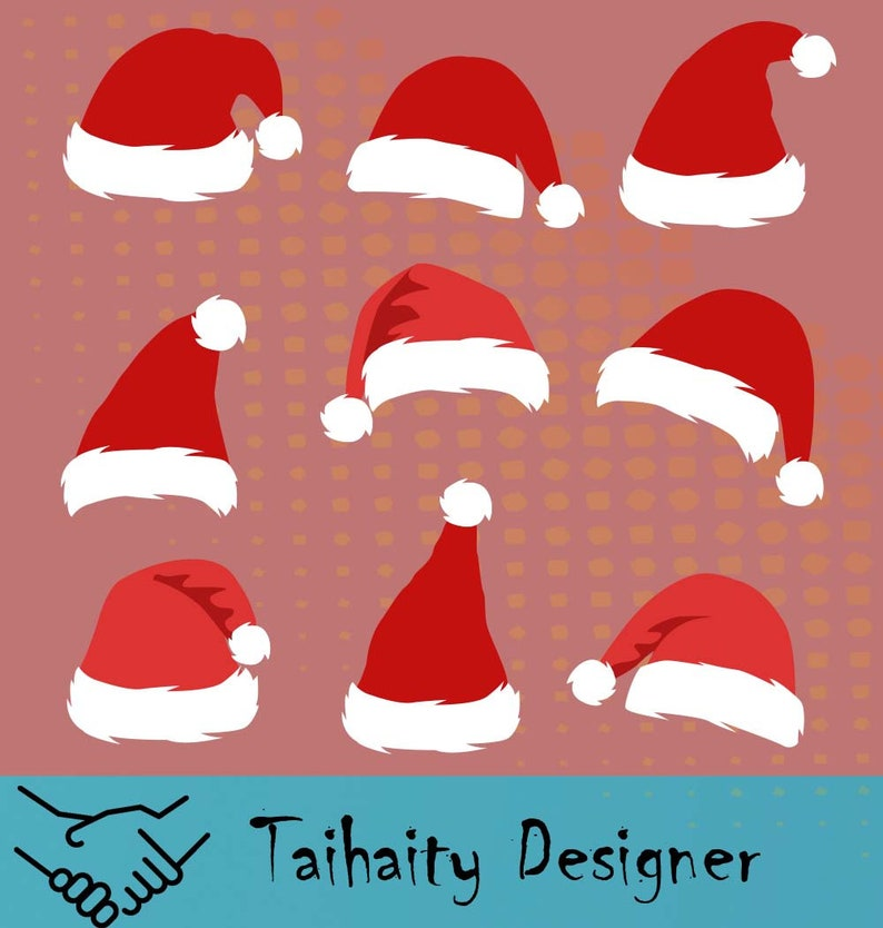 photo about Printable Santa Hat named Santa Hat svg document/ Santa Hat svg, dxf, png/ Printable/ SVG lower record/ Vector/ Electronic/ Print/ Quick down load