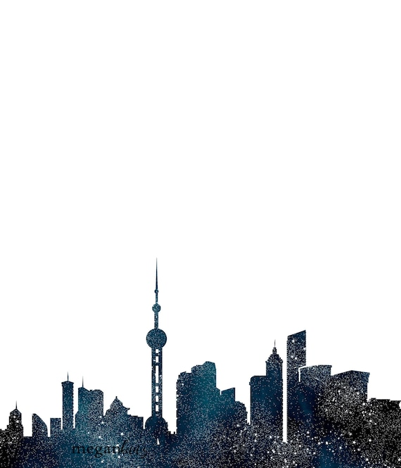 CHINA SHANGHAI SKYLINE CANVAS PRINT PICTURE WALL ART HOME DECOR FREE DELIVERY