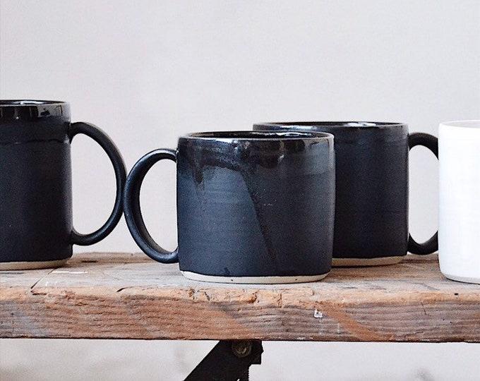 Black Porcelain: Coffee mug, Tea Cup, Barista, Pour Over, Coffee Snob, Caffeine Addict, Latte, Americao, Capuccino,