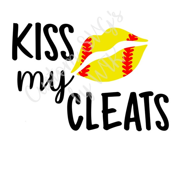 Kiss My Cleats Svg Etsy