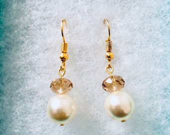 Swarovski pearl drops earrings