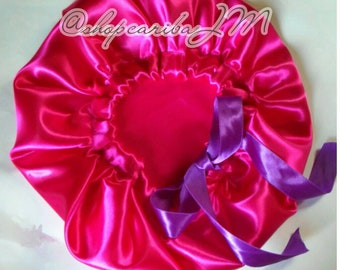Satin bonnet with Ribbon for children   Free size   Non elastic   single  layer   Hair protection Sleeping Caps 6356ef5db7a