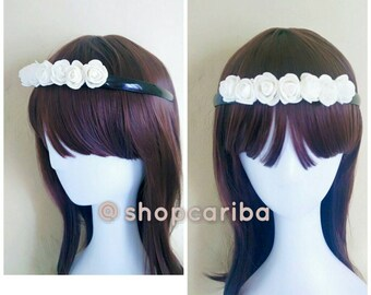 Hair bandoo tiara with roses - hair accessories one size fits all