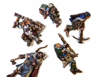 Dead Adventurers | Dead Bodies | Corpses | Casualty Markers | 28mm | Tiny Furniture