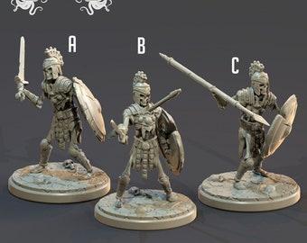 Skeleton Soldiers | Undead | Greek Myth | Athenian | 32mm | Clay Cyanide