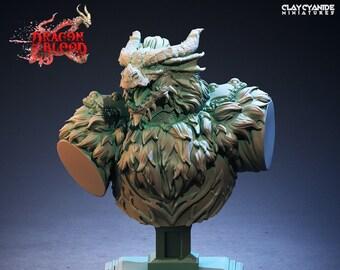 Dragonblood Druid | Dragonborn | Bust | Clay Cyanide Miniatures