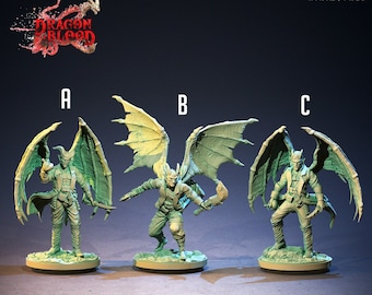 Cambion Mercenaries | Tiefling | Fiend | Adventurer | Dragon Blood | 32mm | Clay Cyanide