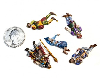 Dead Nobles | Dead Bodies | Corpses | Casualty Markers | 28mm | Tiny Furniture