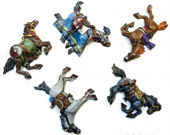 Dead Horses | Dead Bodies | Corpses | Casualty Markers | 28mm | Tiny Furniture