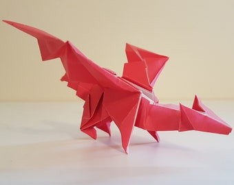 Origami Little Red Dragon