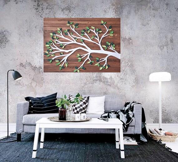 String Art Tree Wooden Tree Art Tree Wood Wall Art Home Decor Etsy
