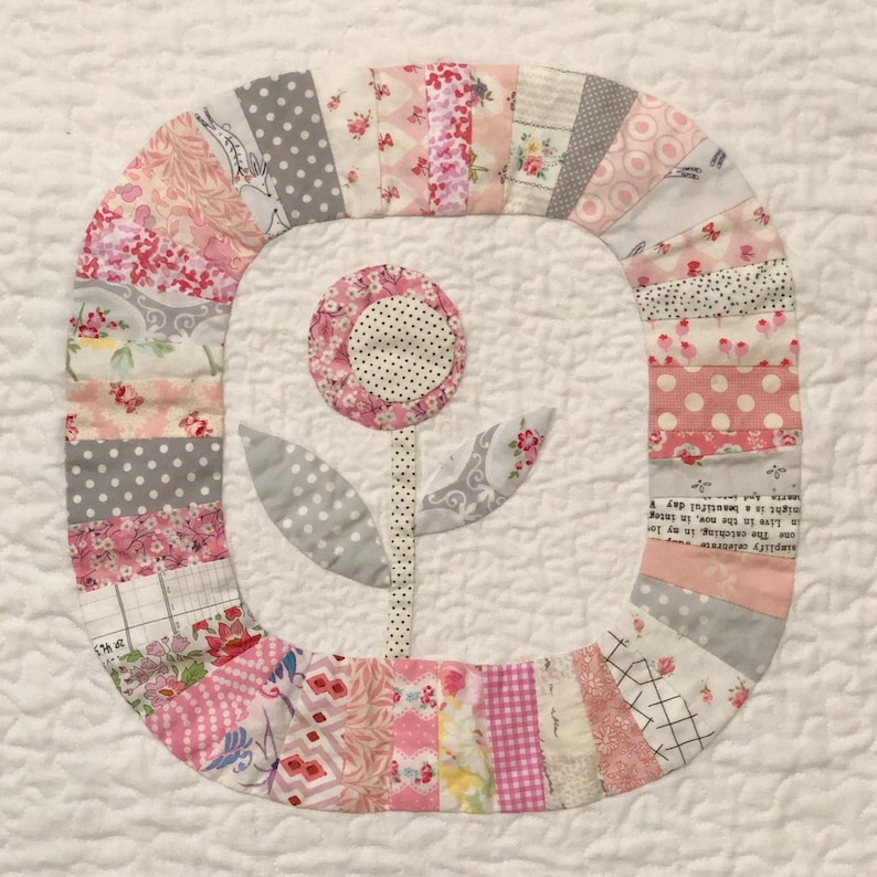 Custom Made-to-Order Hand appliqued baby quilt
