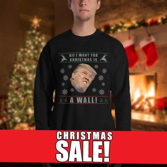Funny Donald Trump President Christmas Sweater, Merry Xmas Jumper, Ugly Xmas Sweater, Ugly Christmas Sweater, Christmas Jumper, Novelty