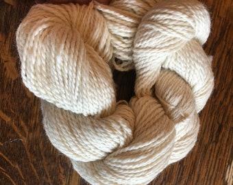 Indiana grown Alpaca yarn - cream