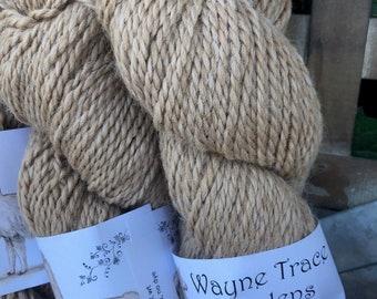 Indiana grown 100% alpaca yarn - fawn