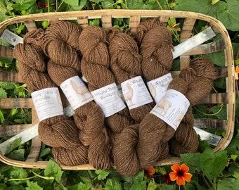 Indiana grown alpaca yarn -  brown tweed