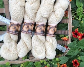 Indiana grown 100% natural wool yarn