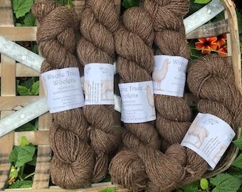 Indiana grown alpaca yarn - brown