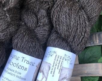 Indiana grown alpaca yarn - charcoal