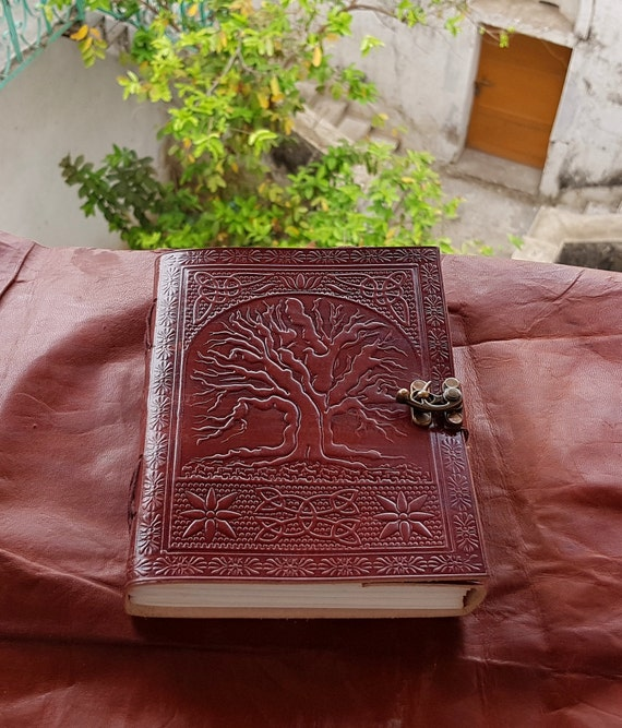 Tree Of Life Handmade Leather Journal Embossed High Quality Diary